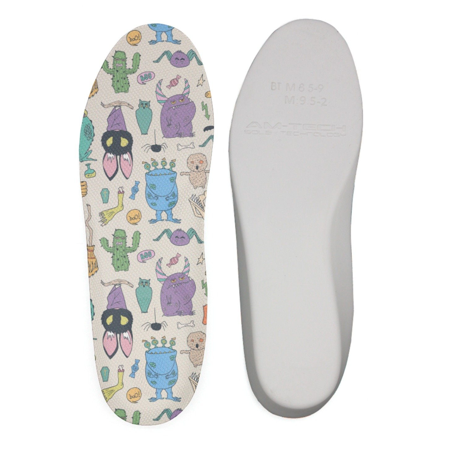 Ether Dobbin Zombie Horror Halloween Scary Monster Comfort Antimicrobial No Stink Insole Full Length Shoe Insole