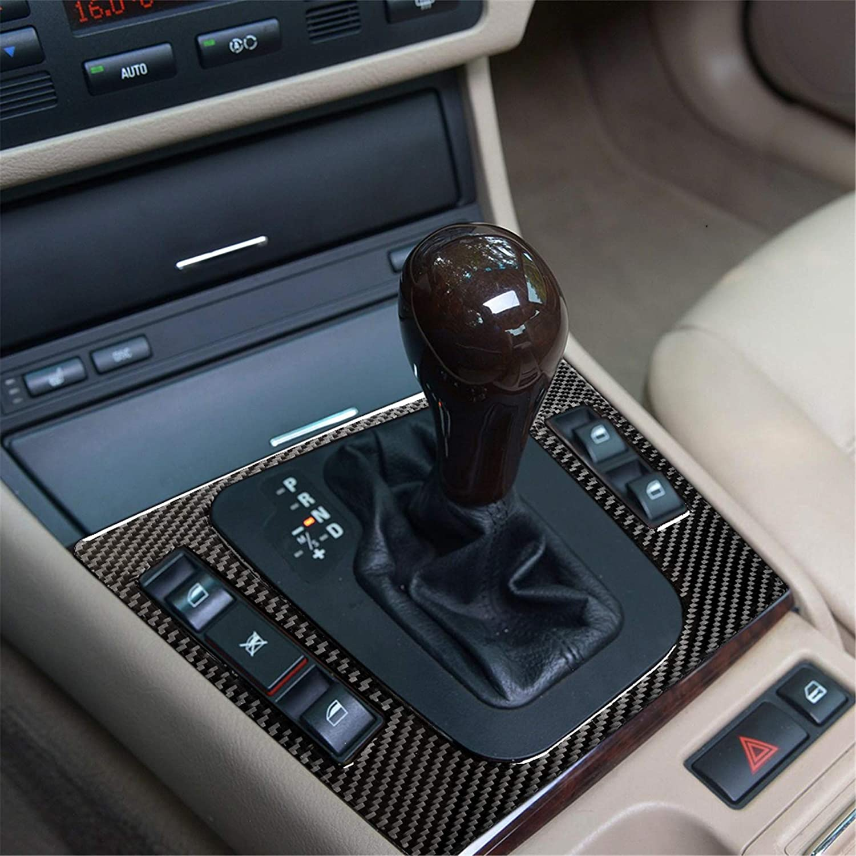 Carbon Fiber Dashboard Console Gear Box Panel Frame Decal Cover Trim for BMW 3 Series 4th E46 320i 325i 330i 335i 340i M3 1998-2006