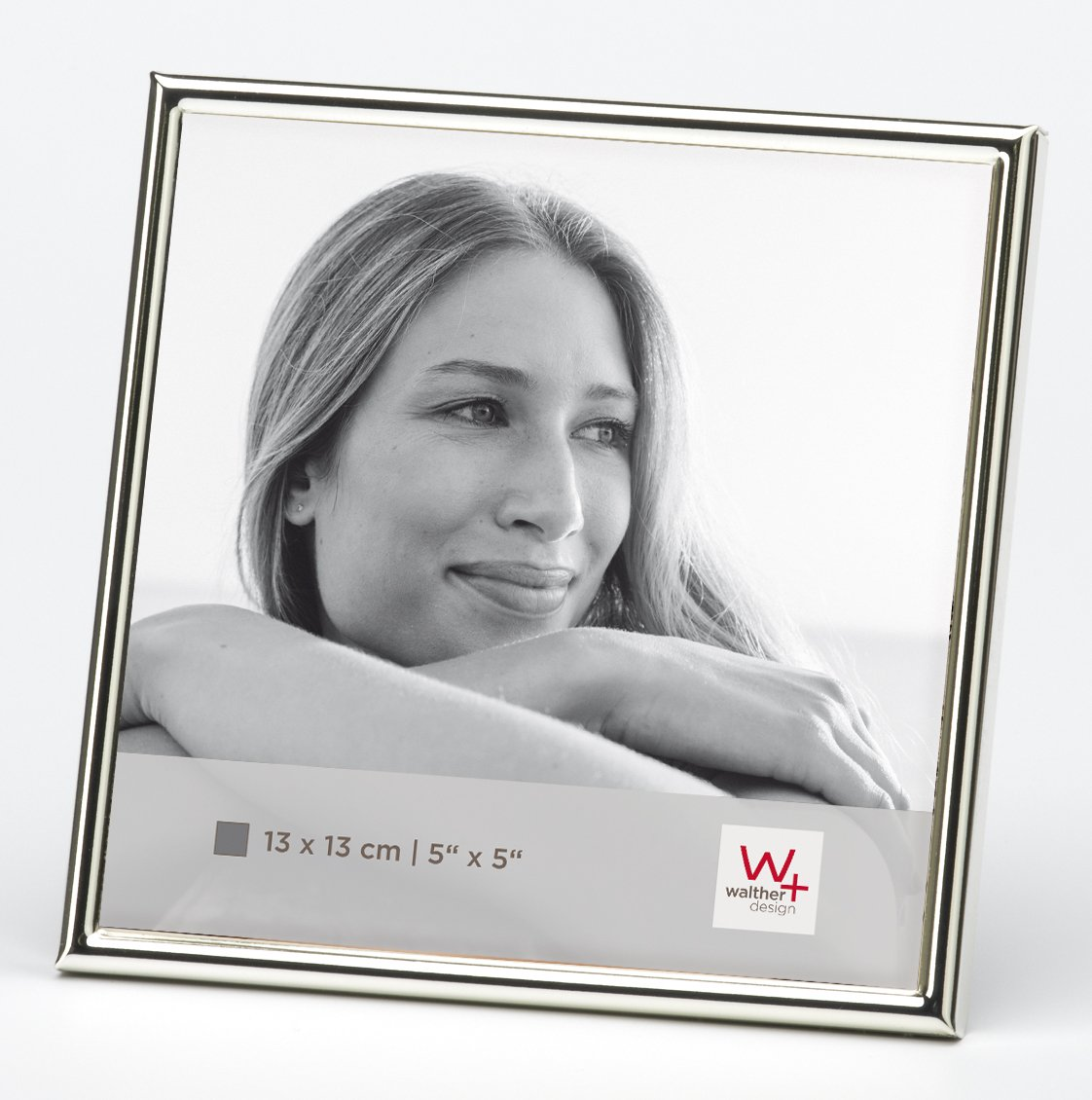 Walther design WD313S Chloe Portraitrahmen, 13 x 13 cm, silber ...