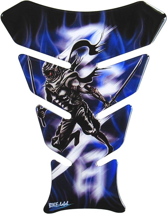 Tankpad 3d 500975 Ninja Blue Blau Samurai Schwert Universell Für Yamaha Honda Ducati Suzuki Kawasaki Ktm Bmw Triumph Und Aprilia Tanks Auto