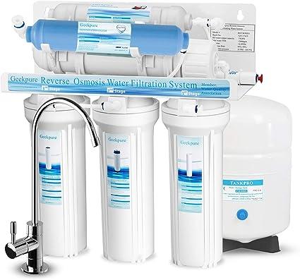 Geekpure - Sistema de filtro de agua para osmosis inversa (75 GPD ...