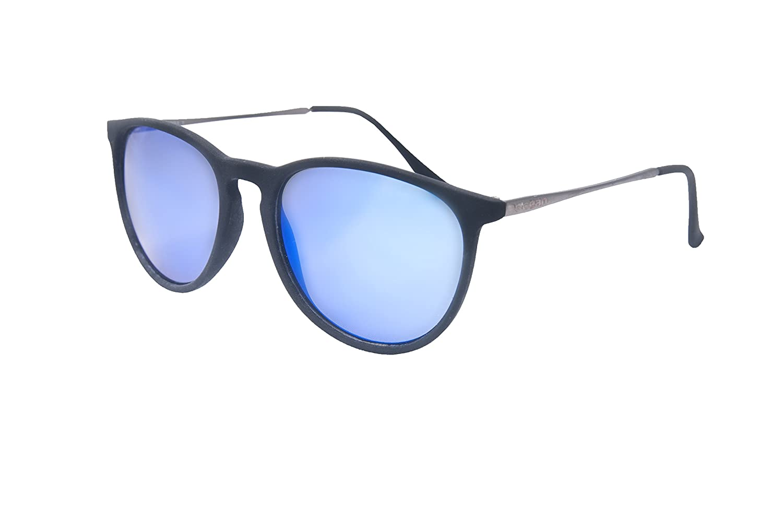 Ocean Sunglasses Bari - Gafas de Sol metálicas - Montura : Azul Claro - Lentes : Azul Espejo (60001.5)