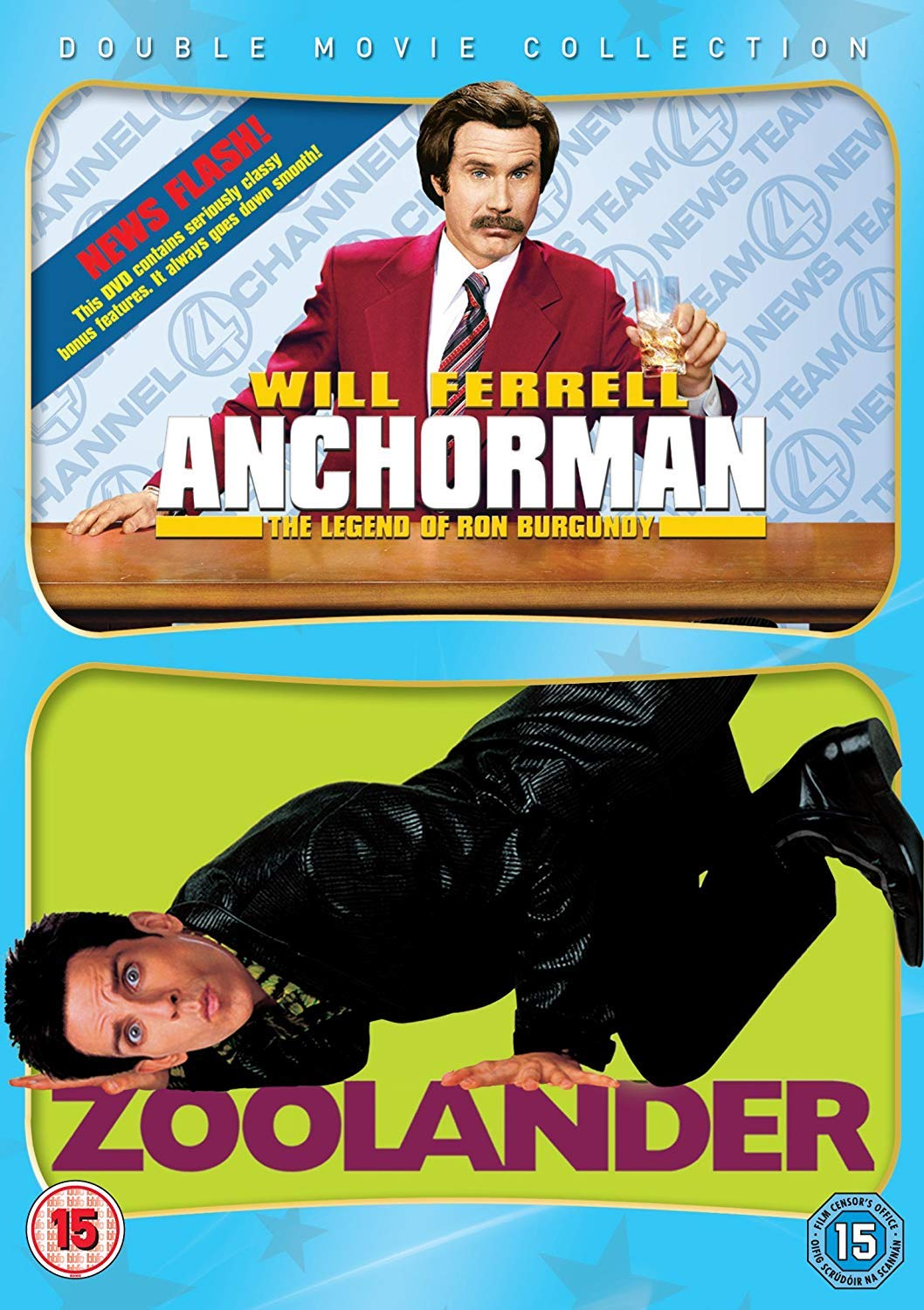 Anchorman - The Legend Of Ron Burgundy/Zoolander DVD by Will ...