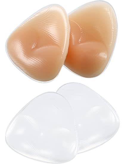 02b1421ae07ba Image Unavailable. Image not available for. Color  Hestya 2 Pairs Bikini  Gel Pads Silicone Bra Inserts Push UP Breast Enhancer
