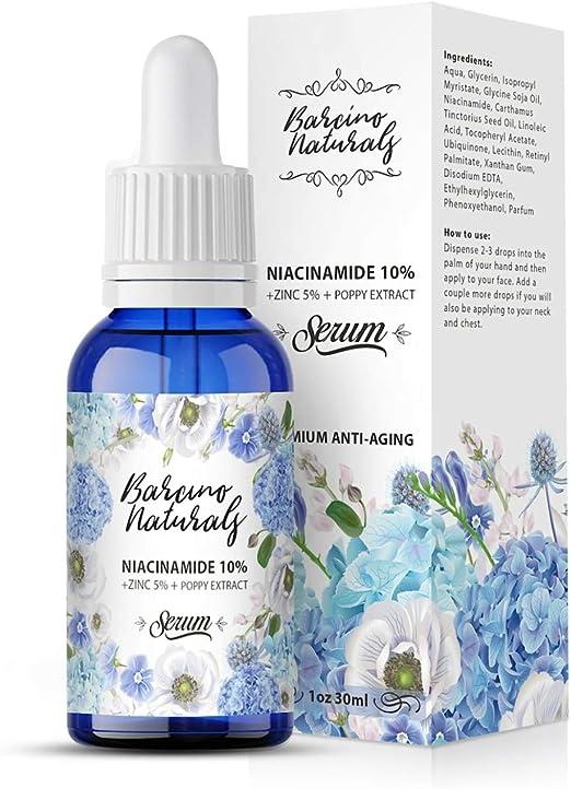 Serum Facial Niacinamida 10% + Zinc 5% Antimanchas Vitamina B3 Despigmentante Blanqueador - Reduce Aparicion Acne Anti Poros Abiertos Granos ...