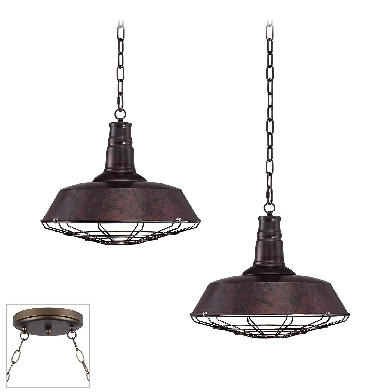 Amazon.com: Tiedra Bronze - Lámpara de araña (2 luces): Home ...
