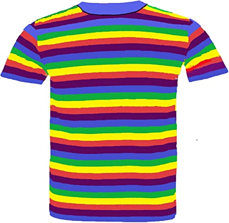 Select-ED® - Camiseta de manga corta para adultos, diseño de bandera de arcoíris Talla:pequeño: Amazon.es: Bebé