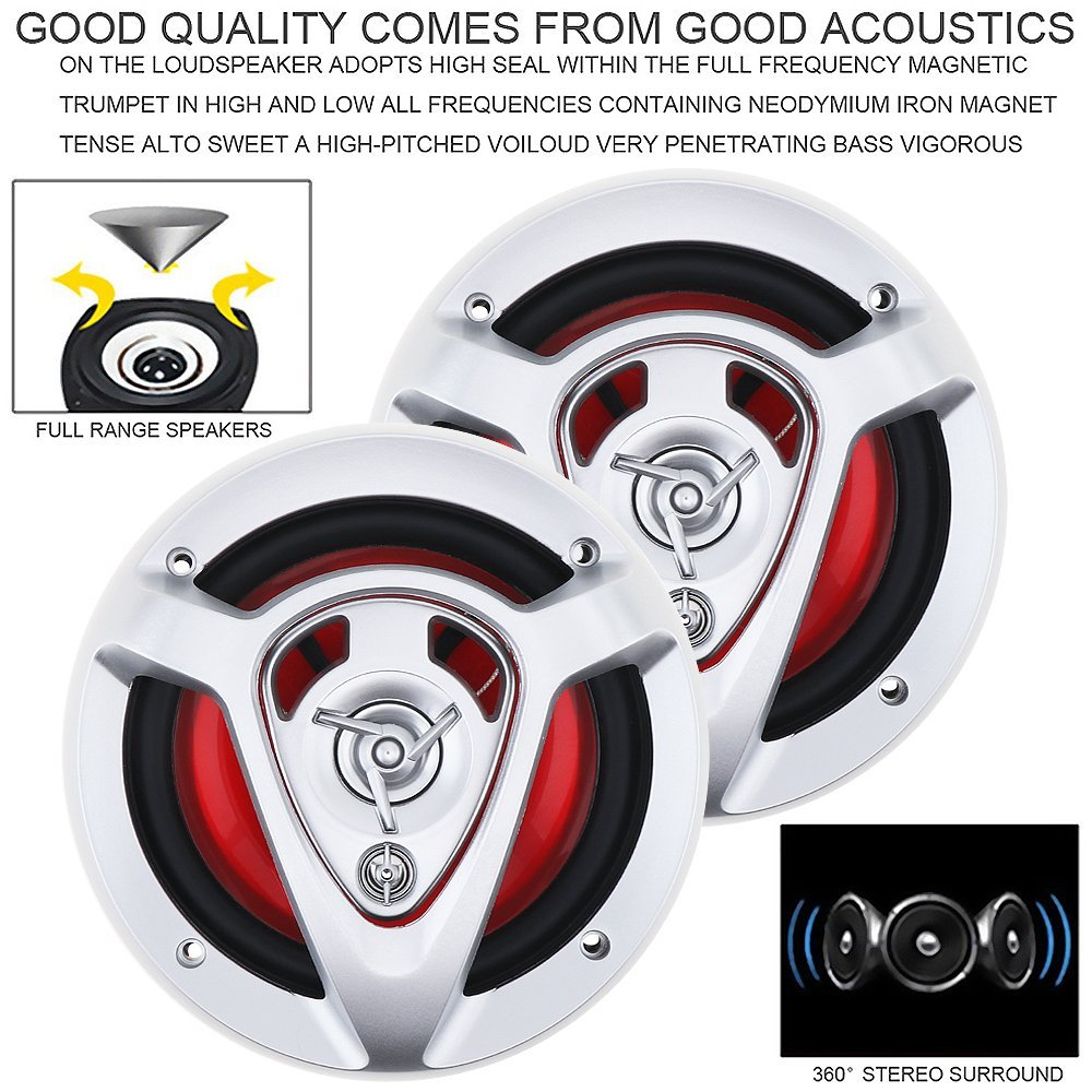 2pcs 6.5 Inch 220W Car HiFi Coaxial Speaker Vehicle Door Auto Audio Music Stereo Full Range Frequency Speakers for Cars