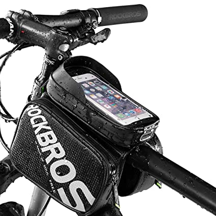 RockBros Waterproof Bicycle Mini Pump Tool Bag Cycling Top Tube Frame Bag Black