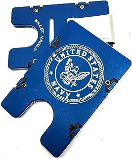product image for HMC Billet United States Navy RFID Protection Credit Card Holder Aluminum Wallet, Blue