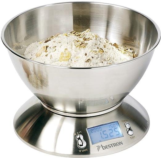 114 opinioni per Bestron DEK4150, Bilancia digitale da cucina, in acciaio inox