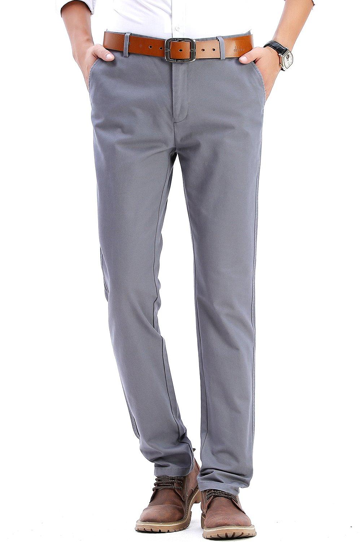 Men casual pants Slim fit Straight work pants No iron anti-wrinkle dresses pants