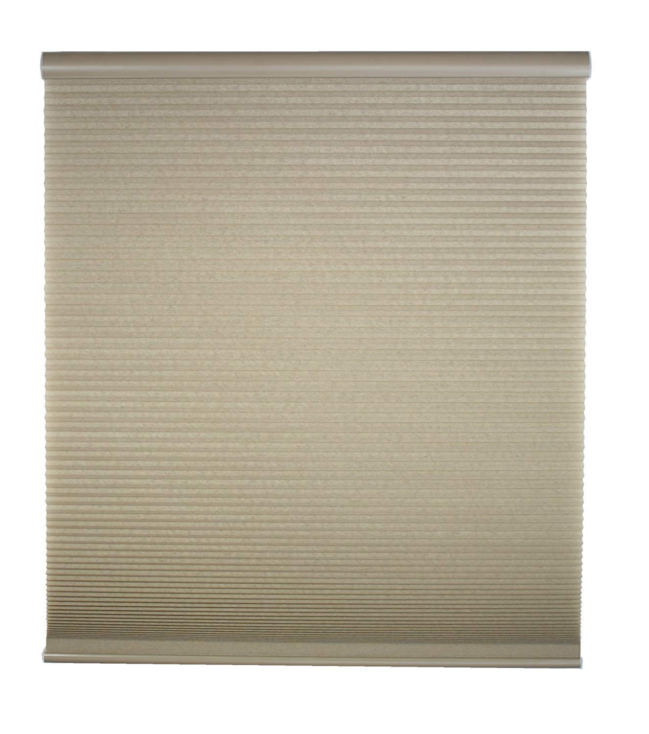34.5W x 48H Inches DEZ Furnishings QCLN344480 Cordless Light Filtering Cellular Shade Linen