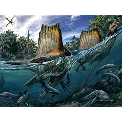 New York Puzzle Company - National Geographic Spinosaurus - 200 Piece Jigsaw Puzzle: Toys & Games [5Bkhe0300710]