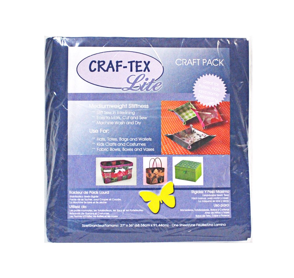 Amazon.com: Craftex 3510-01 | Polyester Sew in Medium Stiffness 68.6x91.4cm: Arts, Crafts & Sewing