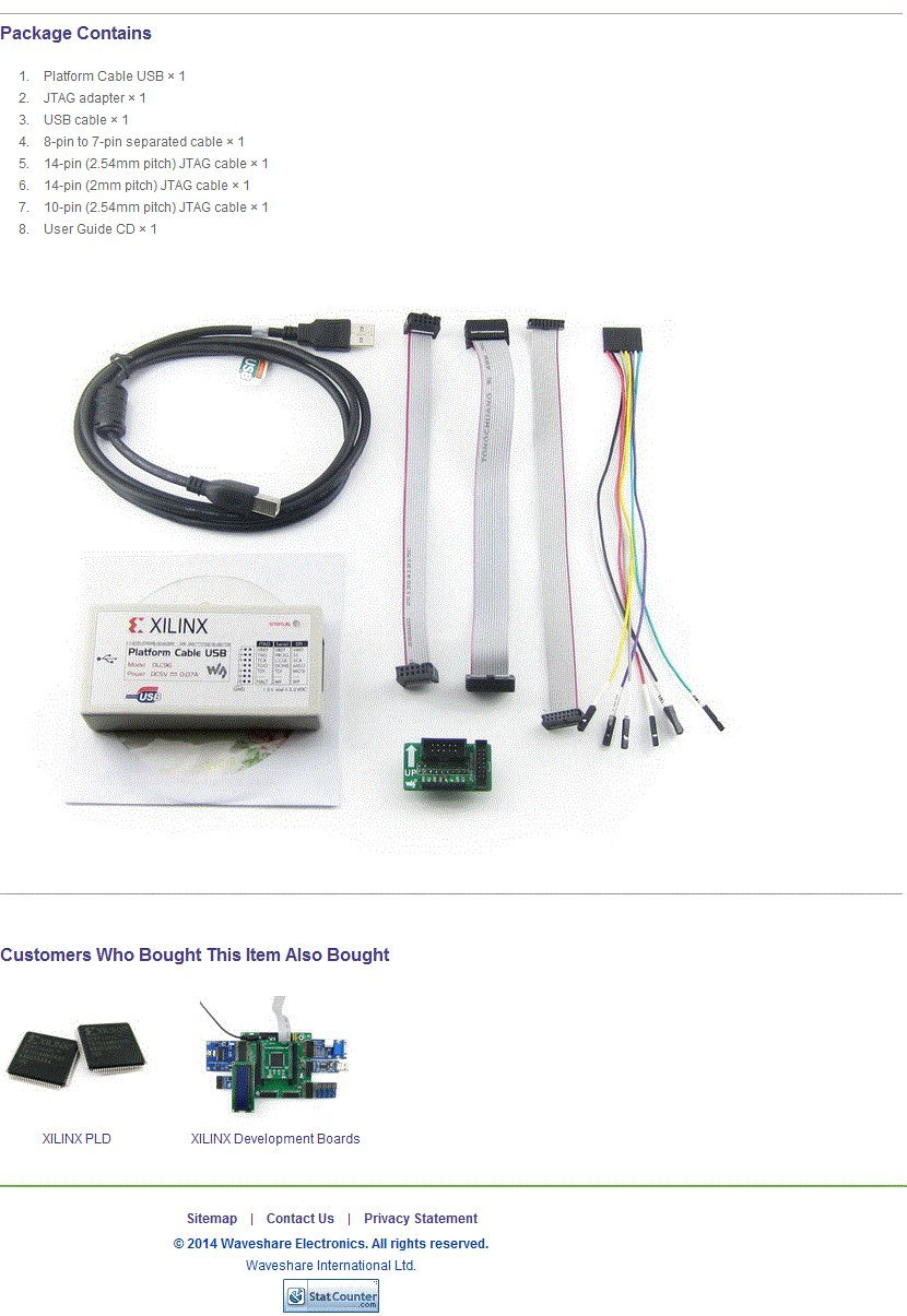 Amazon.com: Waveshare XILINX JTAG Download Debugger Compatible XILINX  Platform Cable USB FPGA CPLD in-circuit Debugger Programmer: Computers &  Accessories