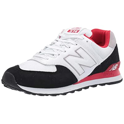 New Balance Men's 574v2 Sneaker, Black/Team Red, 5 D US | Fashion Sneakers