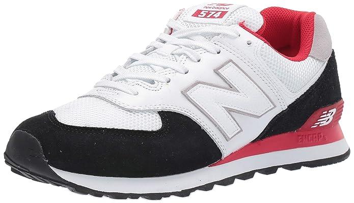 New Balance 574v2 Sneakers Herren Weiß/Schwarz/Rot