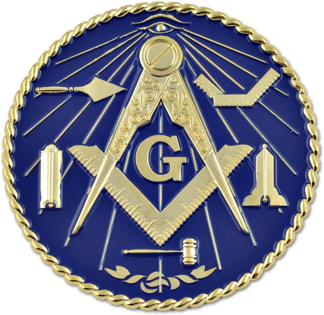 3 Diameter Working Tools 7 Liberal Arts Round Black Masonic Auto Emblem