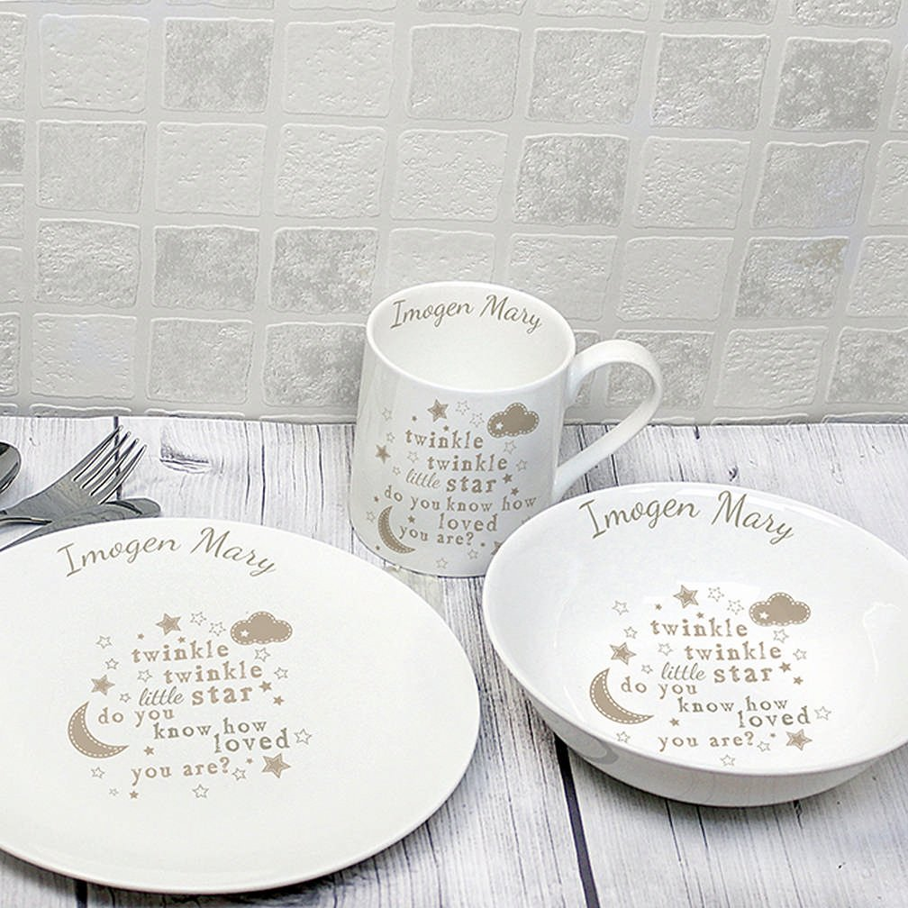 sc 1 st  Amazon UK & Twinkle Twinkle Personalised Breakfast Set: Amazon.co.uk: Kitchen \u0026 Home
