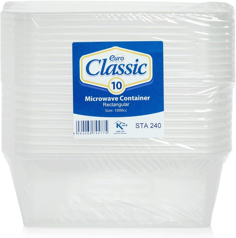 M-L a prueba de fugas aptos para microondas lavables Paquete de 10 recipientes rectangulares de pl/ástico para alimentos con tapas sin BPA frigor/ífico y congelador reciclables