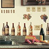 "RoomMates RMK1257SCS Wine Tasting Peel and Stick Wall Decals , 8"" , Multicolor,Multi-Colored"