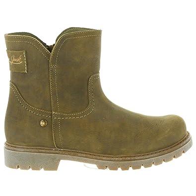 cf50c20441beb6 PANAMA JACK Stiefel für Damen Brescia B5 Nobuck KAKI Schuhgröße 37 ...