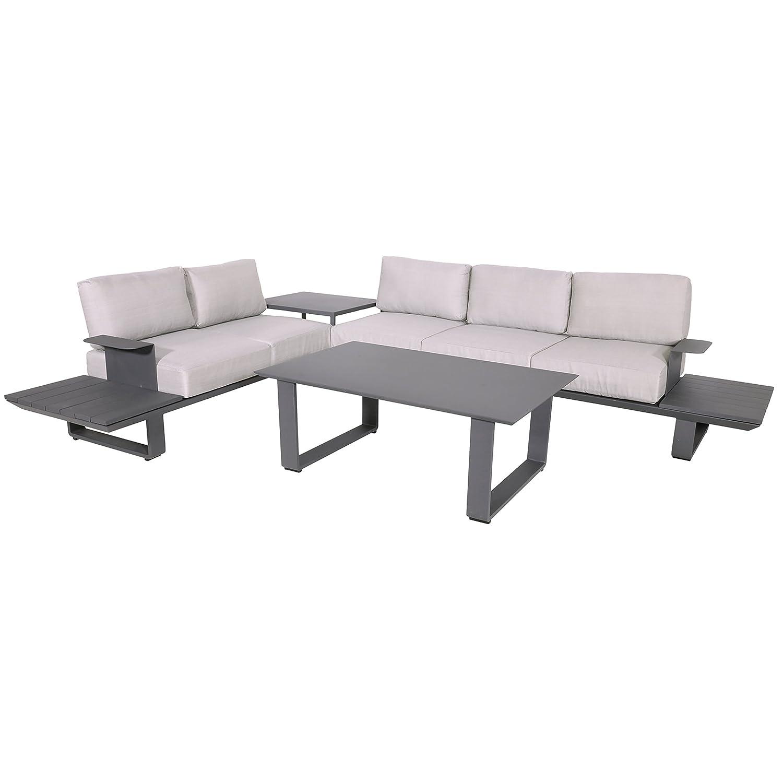 lounge eckbank garten lounge set mit tisch espressi rock. Black Bedroom Furniture Sets. Home Design Ideas