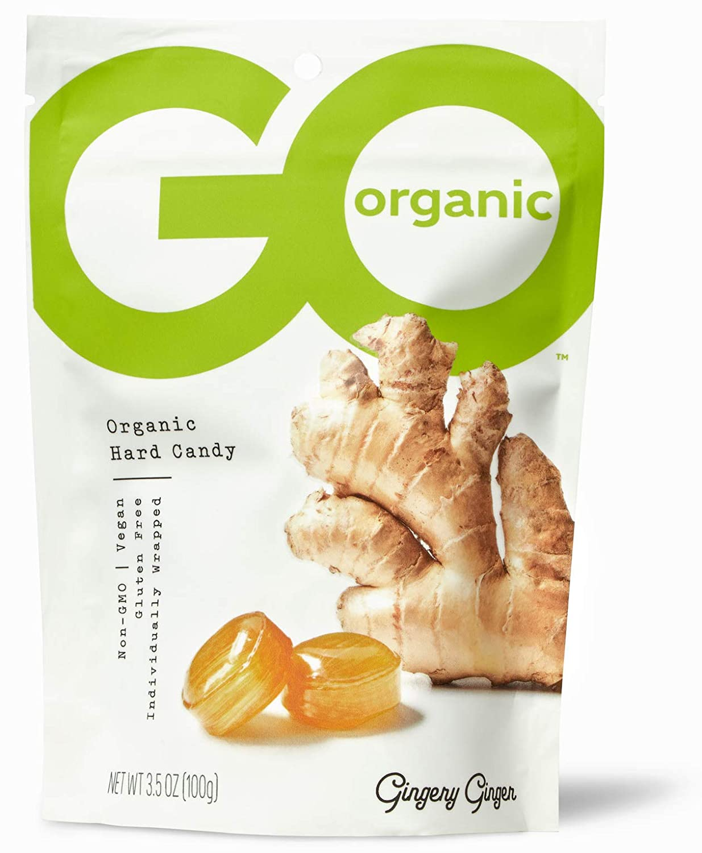 GoOrganic Organic Hard Candies, Ginger, 3.5 Ounce Bag (Pack of 6)