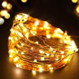 TONY STARK 10 M 100 LED Copper String USB Operated LED Lights, Fairy,Garden, Decoration Party Wedding Diwali Christmas Copper String Lights (100 LED USB)