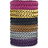 Kinven Original Mosquito Insect Repellent Bracelet Waterproof Natural DEET FREE Insect Repellent Bands, Anti Mosquito Protection Outdoor & Indoor, Adults & Kids, 12 bracelets, in Multiple Colors
