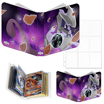 Totem World Mewtwo GX Inspired 3-Ring Binder with 25 9-Pocket Pages and a Mini Binder Collectors Album for Pokemon Cards: Toys & Games
