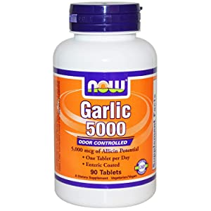 NOW Foods by Now Garlic 5000 Ordor Controlled 90 Tablets