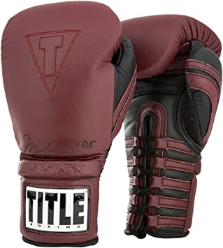 New in Bag Red Title Classic Boxing Leather Training Gloves Size Large 14oz