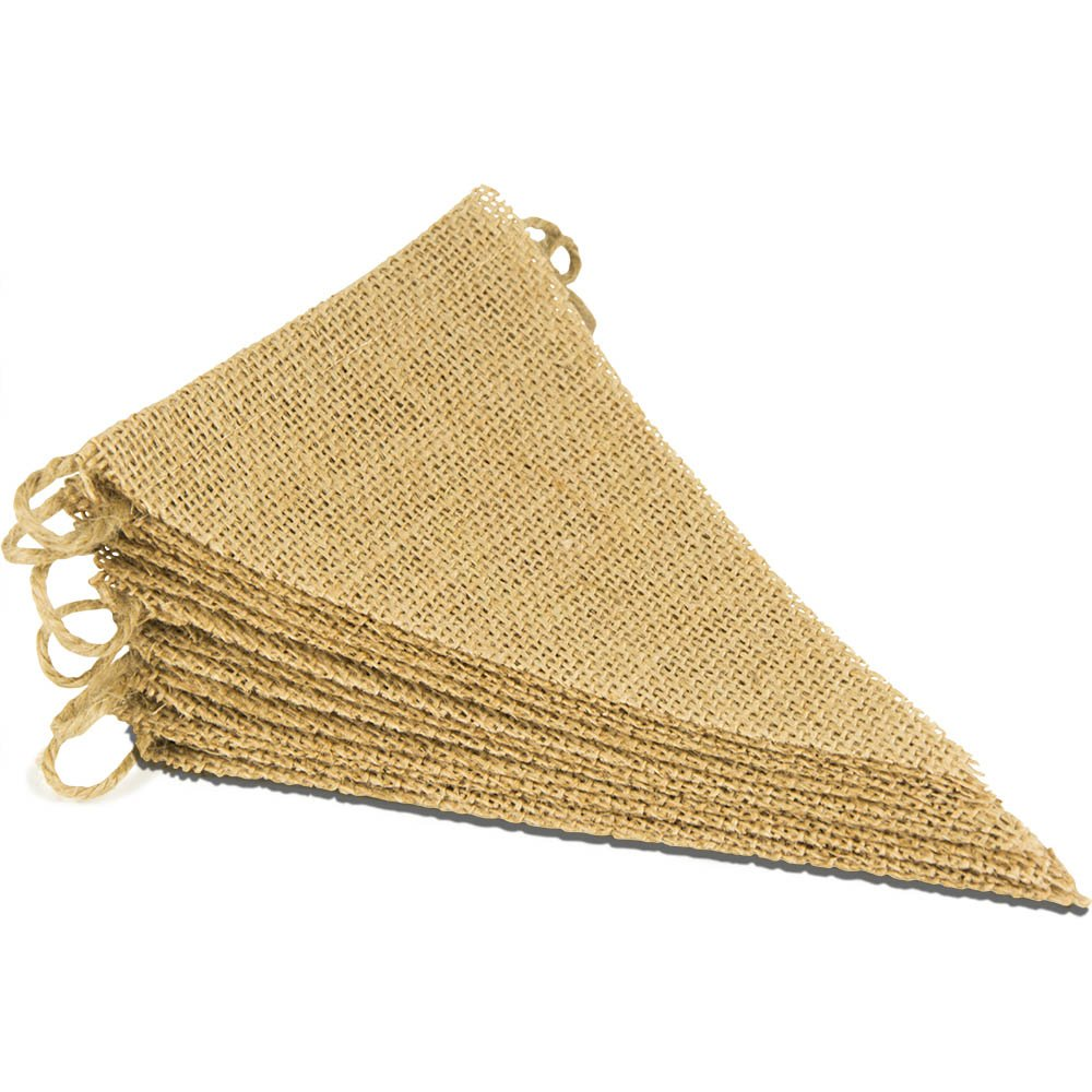ThxToms [15 Pcs Burlap Banner, DIY Party Decor for Birthday, Wedding, Baby Shower and Graduation, 14ft