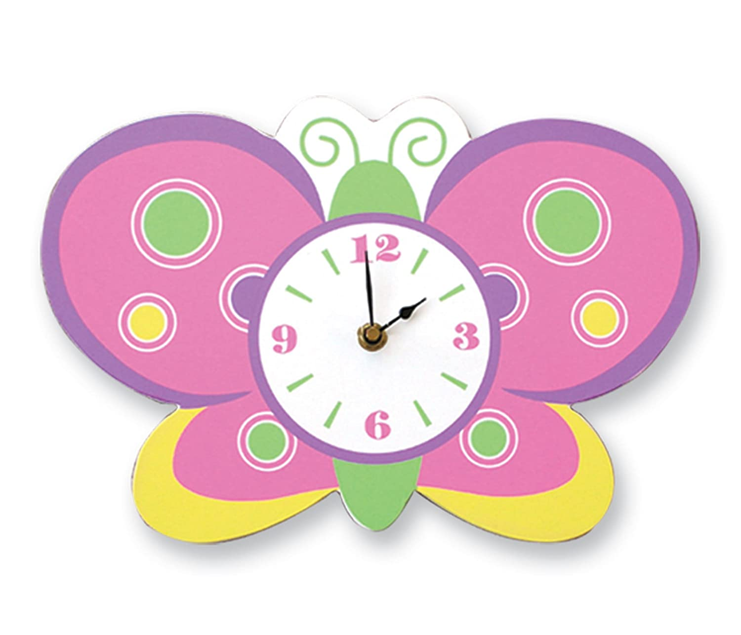 Amazoncom Trend Lab Butterfly Wall Clock Baby