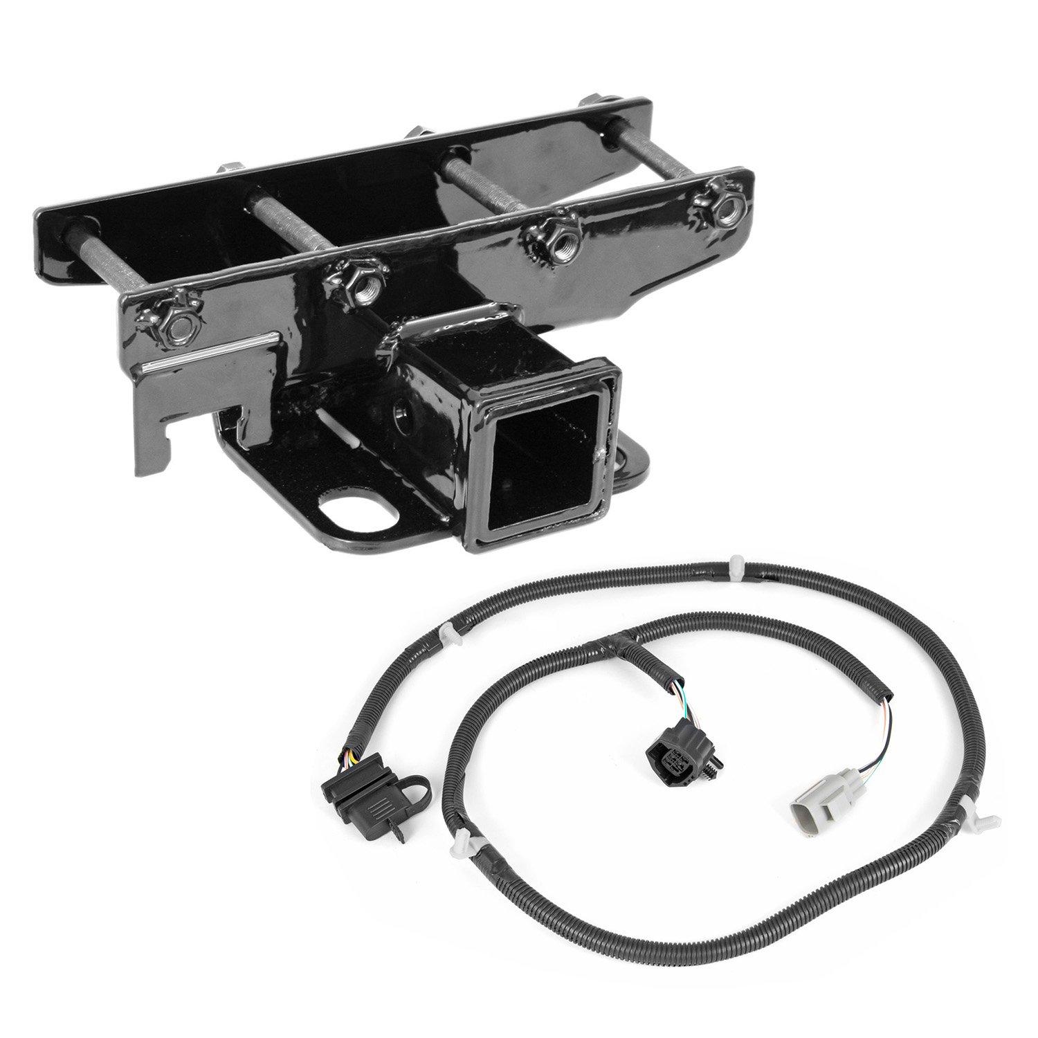 Outland 391158051 Receiver Hitch Kit with Wiring Harness for JK by Outland Automotive