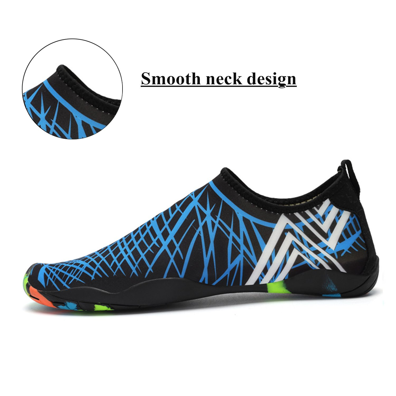 77a95fa7f69fc5 Amazon.com | WXDZ Men Women Water Sports Shoes Quick Dry Barefoot Aqua  Socks Swim Shoes for Pool Beach Walking Running (8.5 US Women/7 US Men, ...