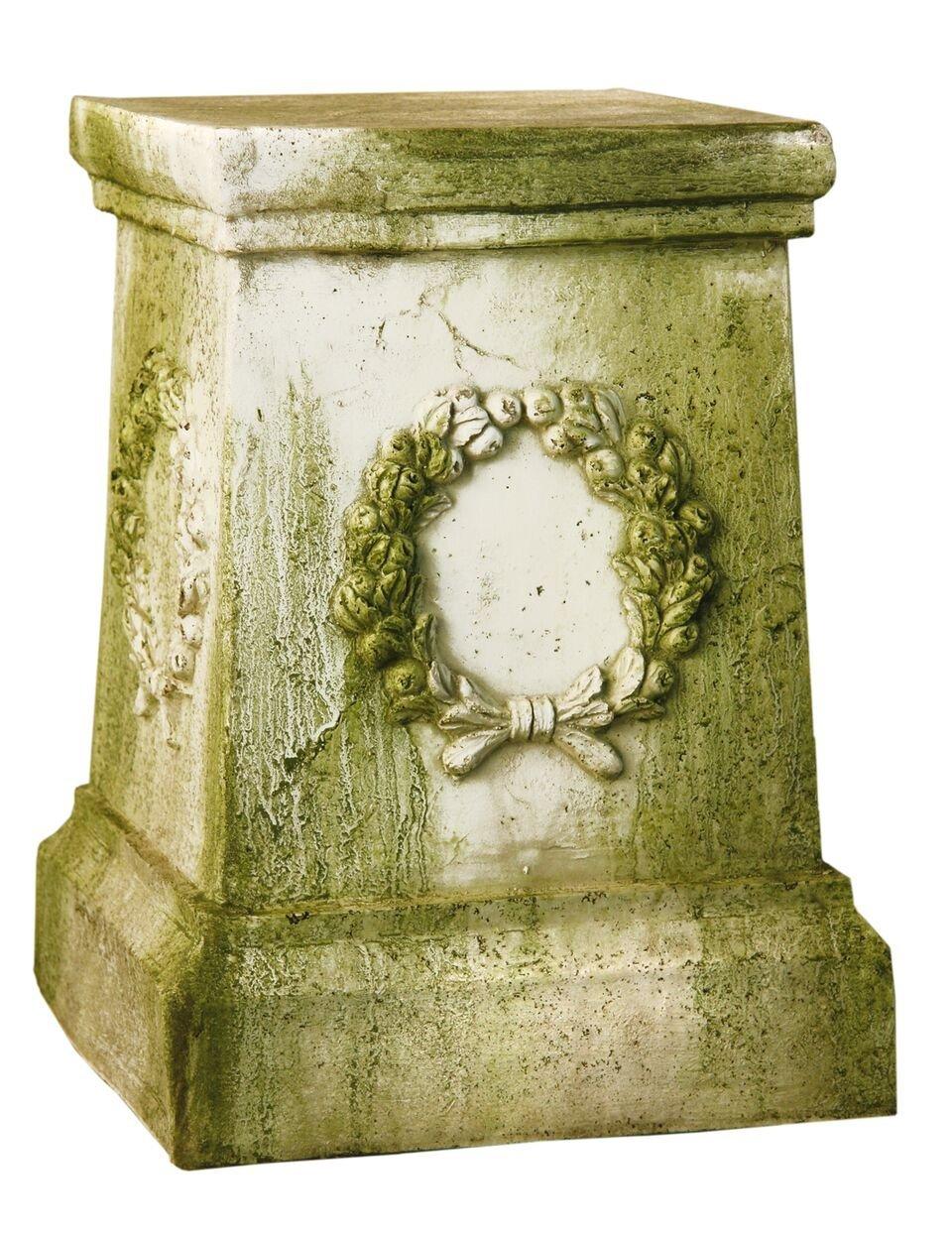 """Wreath Garden Pedestal 18""""H"""
