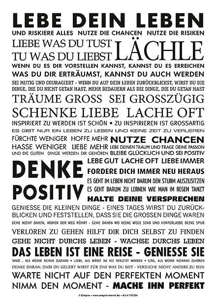 Lebe Dein Leben   Sticker PVC Aufkleber   Motivation Sprüche 7x10 Cm