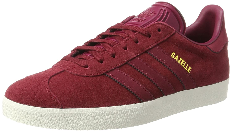 Adidas Gazelle, Zapatillas para Mujer 44 2/3 EU|Negro (Collegiate Burgundy/Mystery Ruby F17/Gold Met.)