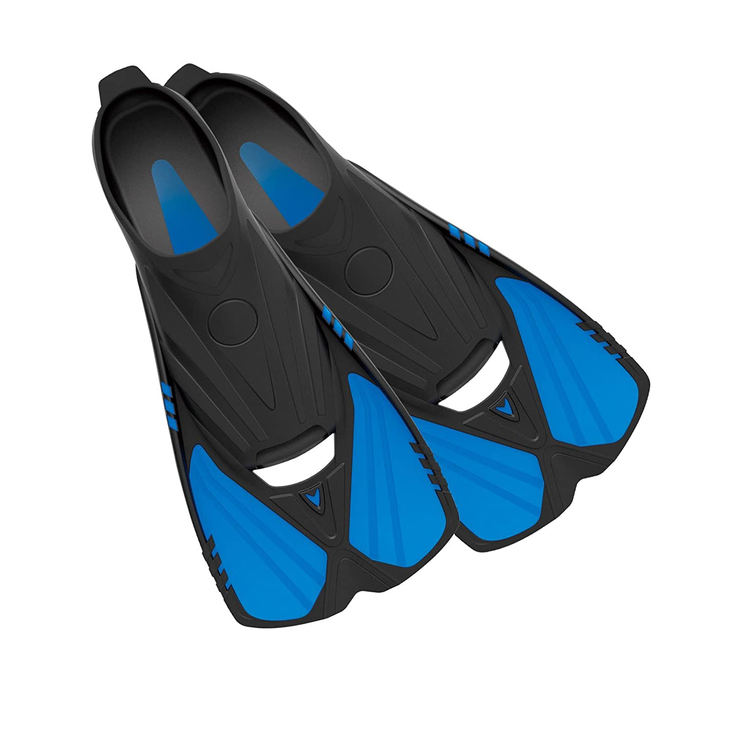 Swimming Deep Blue Gear Aqualine Short Fins for Snorkeling and Diving