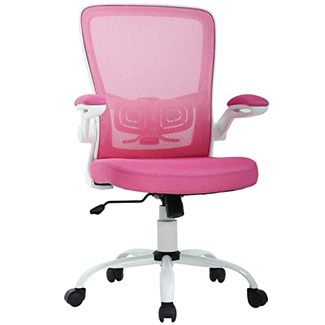 Super Office Chair Desk Chair Computer Chair Back Support Modern Executive Mesh Chair With Adjustable Armrest Rolling Swivel Chair For Homeoffice Pink Beatyapartments Chair Design Images Beatyapartmentscom