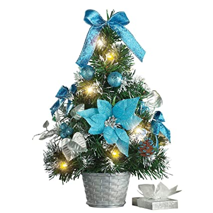 tabletop christmas trees with lights decorations - Tabletop Christmas Trees