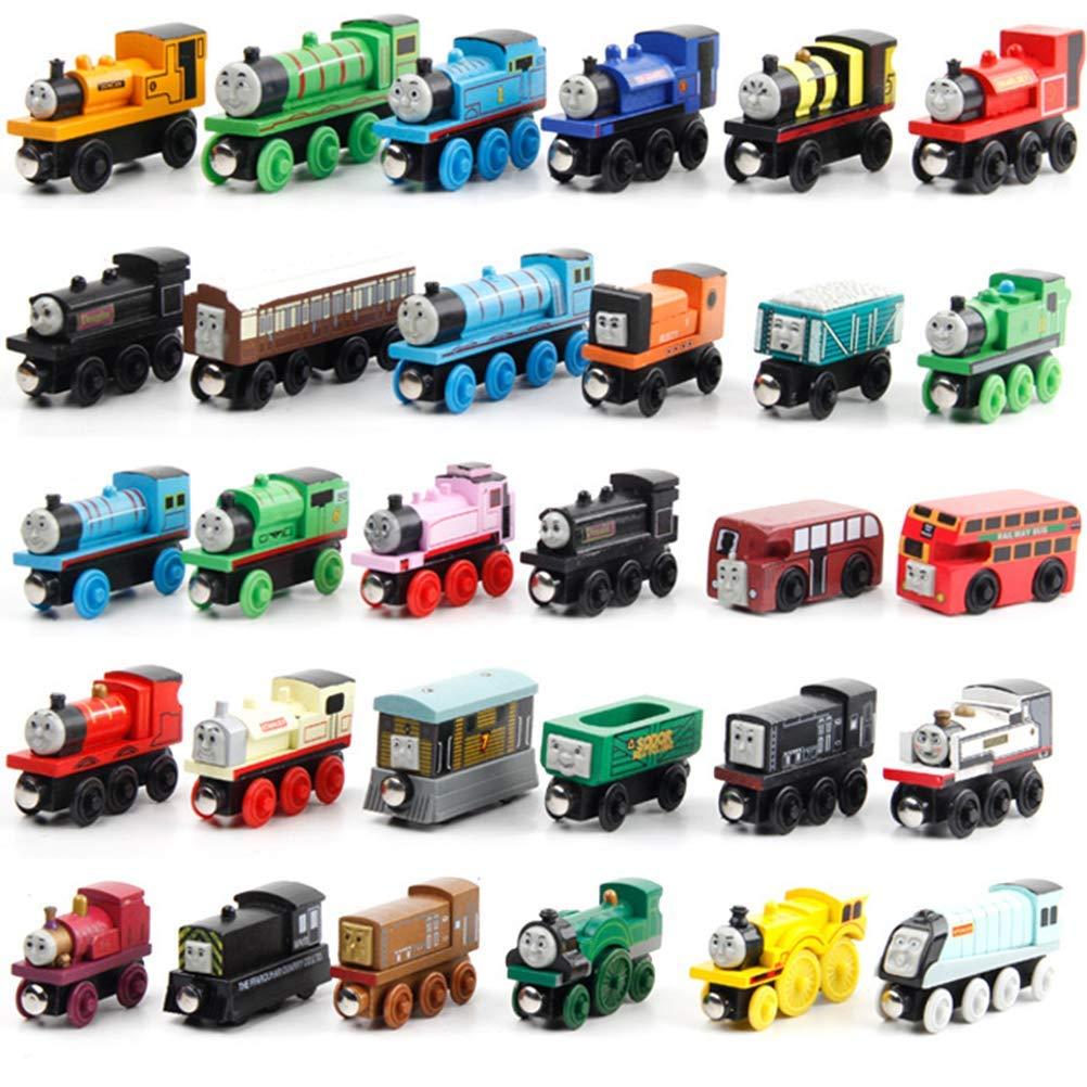 Lqt Ltd 12pcsset Thomas Train Wooden Toys For Children Thomas Anime