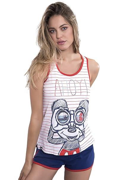 Pijama Tirantes Mujer Disney Mickey, Color Rojo, Talla S