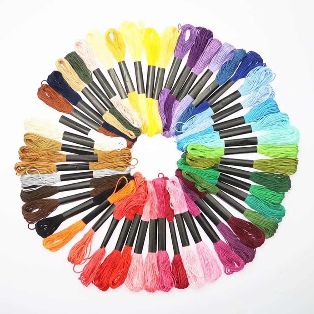 multicolor SUPVOX 1 juego de herramientas de punto de cruz kit de inicio de bordado hilos de colores y kit de herramientas con estiramiento bordado para principiantes de manualidades