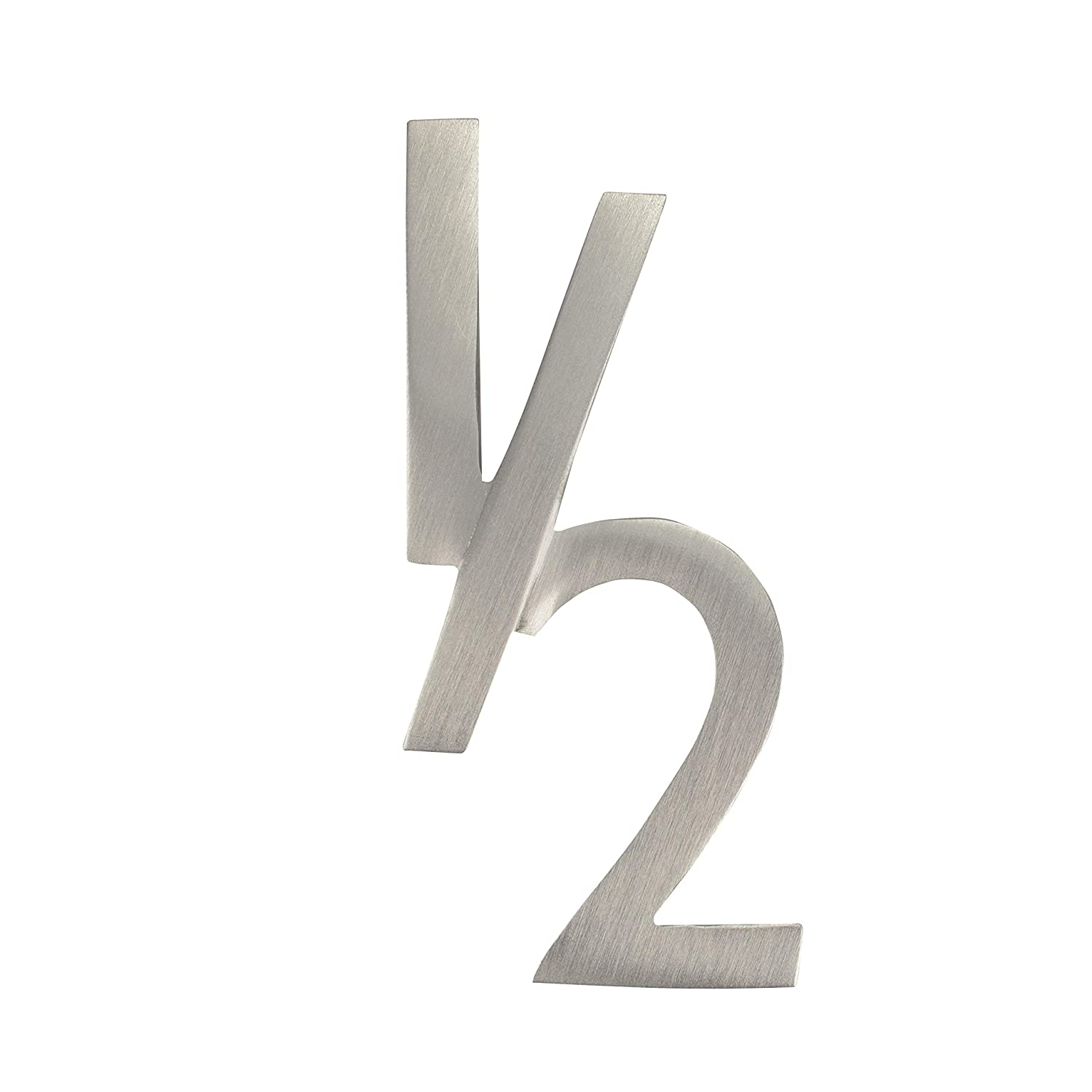 Brass Floating House Number Architectural Mailboxes 3582B-3 4 in