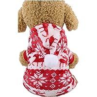 Perro Equipo De La Navidad Suéteres, Jersey De Franela Patrón De Navidad De Ropa Nueva Años Sudadera Pijamas Suaves para…