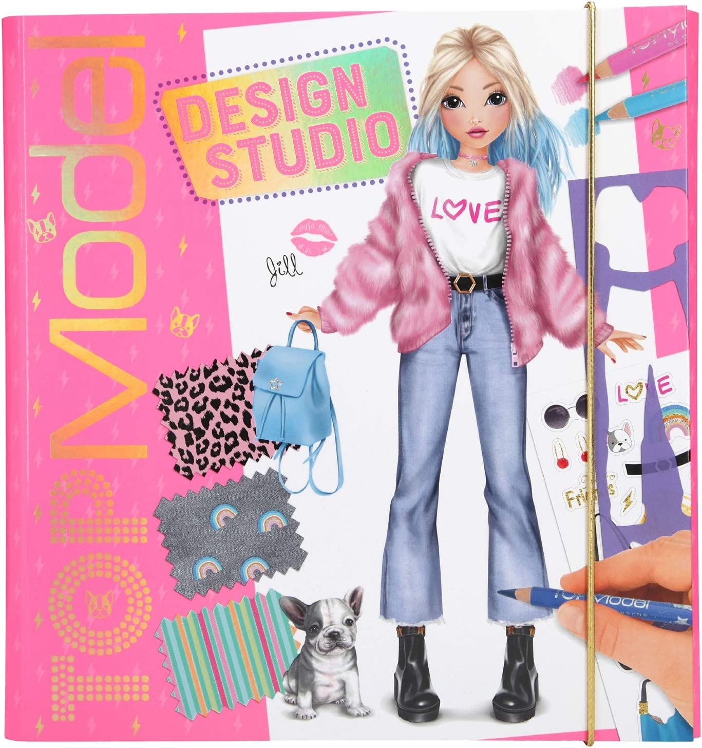 Depesche 10845 Stickerworld Colouring Book TopModel Glamour 25 x 33 x 0.5 cm